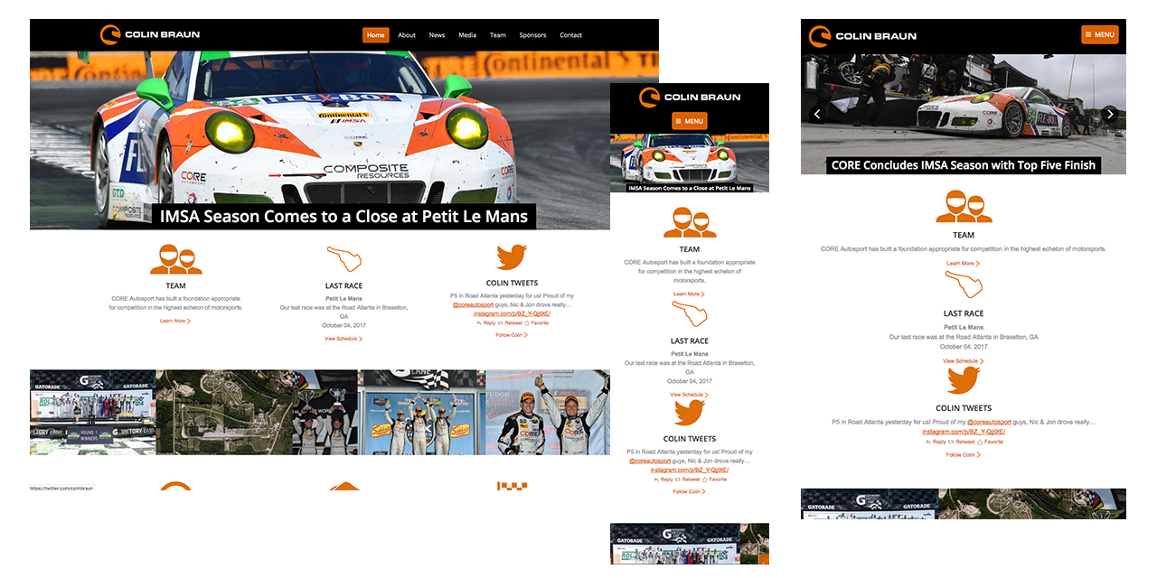Racing Website Design