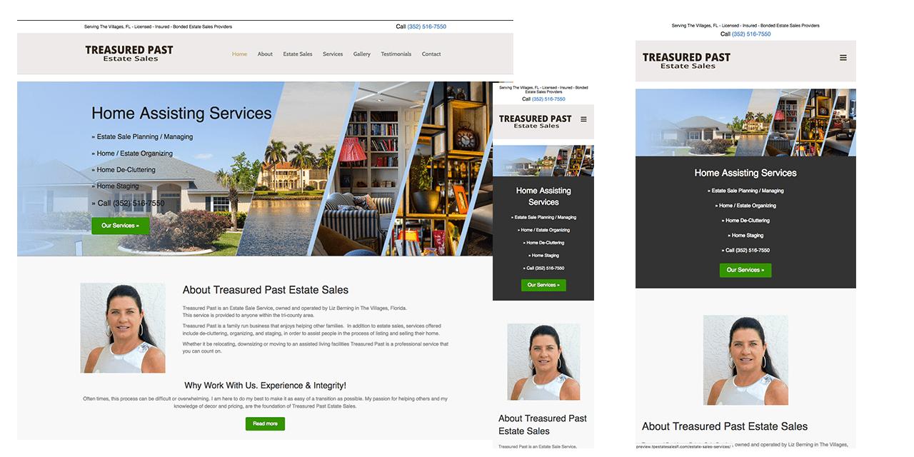 Estate Sales Website Design